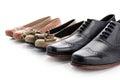 Zapatos en línea en blanco