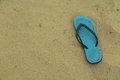 Shoes on sand Royalty Free Stock Photo