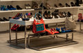 Shoes shop display of women s in a shopping center Royalty Free Stock Images