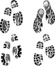 Shoes silhouette set of four pairs of print eps Stock Images
