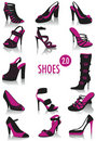 Shoes silhouettes 2 Royalty Free Stock Photo