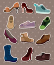 Shoes stickers Royalty Free Stock Photography