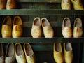 Shoes trä Arkivfoto