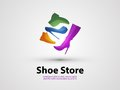Shoes vector design template. sale or Shopping Royalty Free Stock Photo