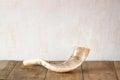 Shofar horn on wooden table rosh hashanah jewish holiday concept traditional holiday symbol Stock Photos