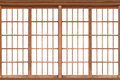 Shoji , Traditional Japanese door,window Royalty Free Stock Photo