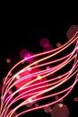 Shone fiery lines Royalty Free Stock Photo