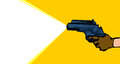Shoot with a ray gun retro blasting laser death rays banner blanked space Stock Images