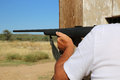 Shooter male in namibia africa Stock Photography
