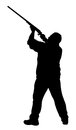 Shooter vector illustration of silhouette Royalty Free Stock Image