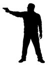 Shooter vector illustration of silhouette Royalty Free Stock Photography