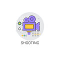 Shooting Camera Film Production Industry Icon Royalty Free Stock Photo