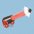 Shooting cannon. Royalty Free Stock Photo