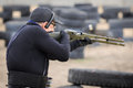 """Shooting competition """"shooting masters in dnipro city ukraine april ukraine Stock Photography"""