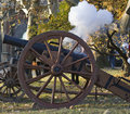 Shooting from the historic cannon Royalty Free Stock Photography
