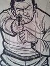 Shooting range target vintage Stock Images