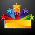 Shooting Star Banner Royalty Free Stock Images