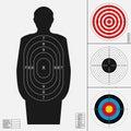 Shooting target set.