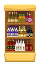 Shop alcoholic beverages store shelf with bottles of alcohol Royalty Free Stock Photography