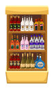 Shop alcoholic beverages store shelf with bottles of alcohol Royalty Free Stock Photos