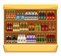 Shop alcoholic beverages store shelf with bottles of alcohol Royalty Free Stock Image