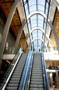 Shop escalator in shopping center interior hamburg germany Royalty Free Stock Photography