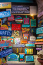 Shop for handmade wooden signs in different colors