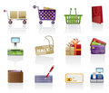 Shop icon set Stock Photos