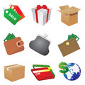 Shop icons Royalty Free Stock Photos