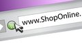 Shop online browser concept illustration design page graphic Royalty Free Stock Photography