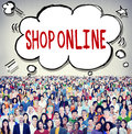 Shop Online Consumer Delivery Customer Concept Royalty Free Stock Photo