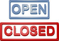 Shop open closed sign Stock Photos