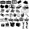 Shop pictogram icons 1 Stock Photos