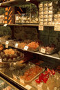 Shop selling candied chestnuts and fruit Royalty Free Stock Photos