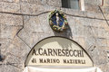 Shop sign A. Carnesecchi - Florence and Deruta Ceramics Royalty Free Stock Photo
