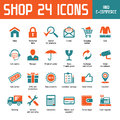 Shop vector icons for e commerce Royalty Free Stock Images