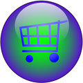 Shop Web button Royalty Free Stock Photo
