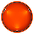 Shop window copyspace showcase isolated round orange with backlight illumination on white Stock Images