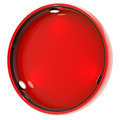 Shop window copyspace showcase isolated round red with backlight illumination on white Stock Photo
