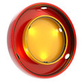 Shop window copyspace showcase isolated round red and yellow with backlight illumination on white Stock Photos