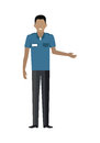 Shop Worker Man Character Vector Illustration