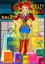 Shopaholic Girl Royalty Free Stock Photo