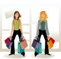 ShopingGirls Royalty Free Stock Photo