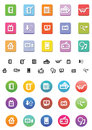 Shopp icons shop from home icon set three different styles Royalty Free Stock Images