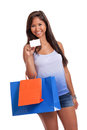 Shopper with credit card Stock Photo