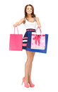 Shopper picture of lovely woman with shopping bags Stock Photo