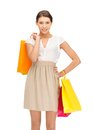 Shopper picture of lovely woman with shopping bags Stock Image