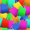 Shopper seamless pattern Royalty Free Stock Photo