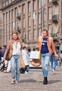 Shoppers at the Dam Square, Amsterdam, Netherlands Royalty Free Stock Photo
