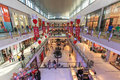Shoppers at dubai mall in dubai uae october united arab emirates is one of the largest the world Stock Photography